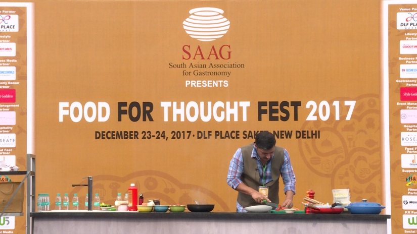 Chef Gautam Mehrishi prepares us Salmon TwoWays!